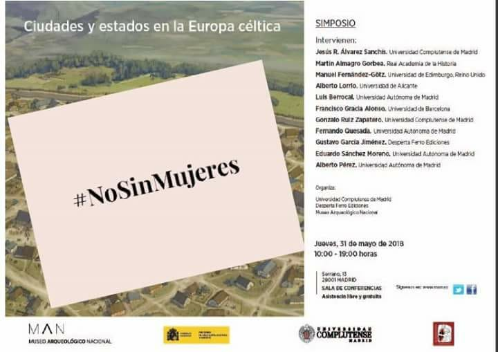 Presencia de mujeres especialistas en eventos y el Simposio Ciudades y estados en la Europa céltica