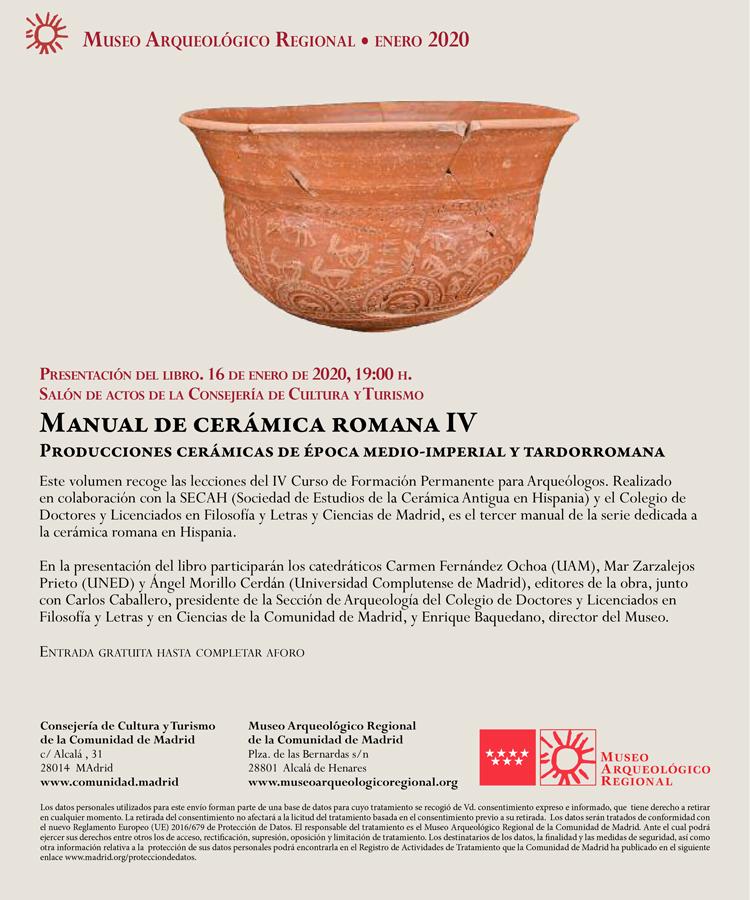 Manual IV de cerámica romana